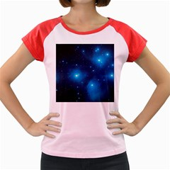 Pleiades Women s Cap Sleeve T-shirt by trendistuff