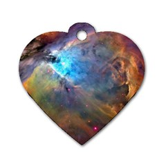 Orion Nebula Dog Tag Heart (one Side) by trendistuff