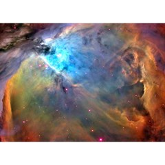 Orion Nebula Birthday Cake 3d Greeting Card (7x5)  by trendistuff