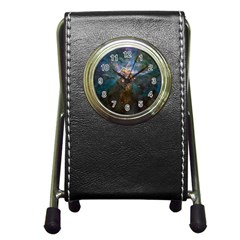 Mystic Mountain Pen Holder Desk Clocks by trendistuff