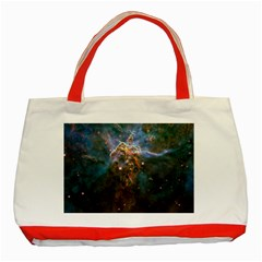 Mystic Mountain Classic Tote Bag (red)  by trendistuff