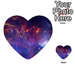 Milky Way Center Multi Purpose Cards (heart)  by trendistuff