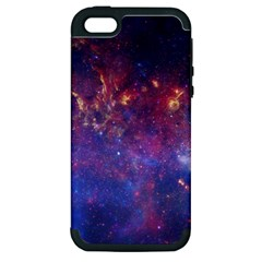Milky Way Center Apple Iphone 5 Hardshell Case (pc+silicone) by trendistuff