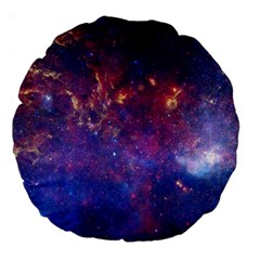Milky Way Center Large 18  Premium Round Cushions by trendistuff