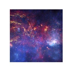 Milky Way Center Small Satin Scarf (square)  by trendistuff