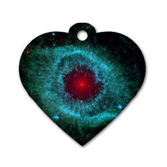 Helix Nebula Dog Tag Heart (two Sides) by trendistuff
