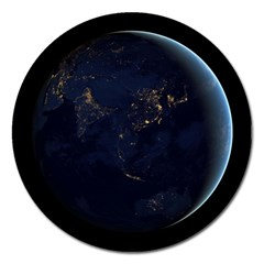 Global Night Magnet 5  (round) by trendistuff