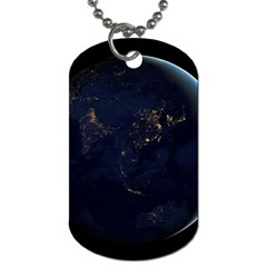 Global Night Dog Tag (two Sides) by trendistuff