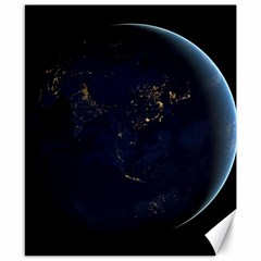 Global Night Canvas 8  X 10