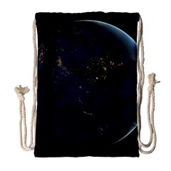 Global Night Drawstring Bag (large) by trendistuff