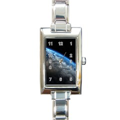 Earth Orbit Rectangle Italian Charm Watches by trendistuff