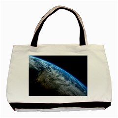 Earth Orbit Basic Tote Bag  by trendistuff