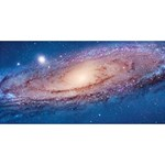 ANDROMEDA Best Wish 3D Greeting Card (8x4)  Front