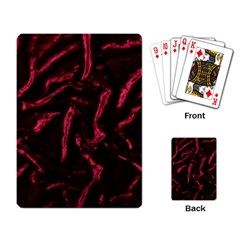 Luxury Claret Design Playing Card
