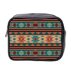 Southwest Design Turquoise And Terracotta Mini Toiletries Bag 2 Side by SouthwestDesigns