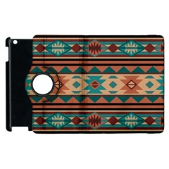 Southwest Design Turquoise And Terracotta Apple Ipad 3/4 Flip 360 Case by SouthwestDesigns