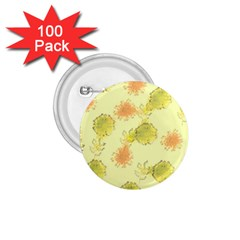 Shabby Floral 1 1 75  Buttons (100 Pack)  by MoreColorsinLife