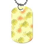 Shabby Floral 1 Dog Tag (Two Sides) Back