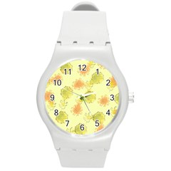 Shabby Floral 1 Round Plastic Sport Watch (m) by MoreColorsinLife