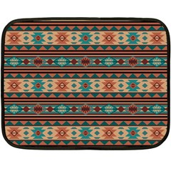 Southwest Design Turquoise And Terracotta Double Sided Fleece Blanket (mini)  by SouthwestDesigns