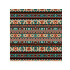 Southwest Design Turquoise And Terracotta Small Satin Scarf (square)  by SouthwestDesigns