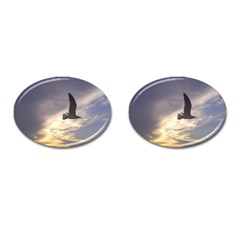 Seagull 1 Cufflinks (oval) by Jamboo