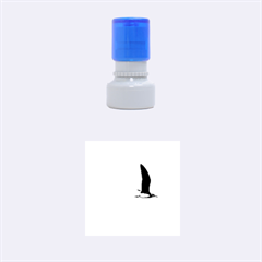 Seagull 1 Rubber Round Stamps (small) by Jamboo