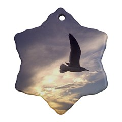 Seagull 1 Snowflake Ornament (2 Side) by Jamboo