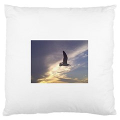 Seagull 1 Large Flano Cushion Cases (one Side)  by Jamboo