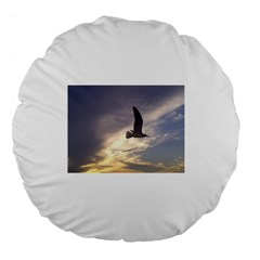 Seagull 1 Large 18  Premium Flano Round Cushions by Jamboo
