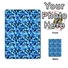 Turquoise Blue Abstract Flower Pattern Multi Purpose Cards (rectangle)  by Costasonlineshop