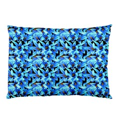 Turquoise Blue Abstract Flower Pattern Pillow Cases by Costasonlineshop