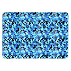 Turquoise Blue Abstract Flower Pattern Samsung Galaxy Tab 8 9  P7300 Flip Case by Costasonlineshop