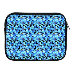 Turquoise Blue Abstract Flower Pattern Apple Ipad 2/3/4 Zipper Cases by Costasonlineshop