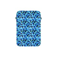 Turquoise Blue Abstract Flower Pattern Apple Ipad Mini Protective Soft Cases by Costasonlineshop