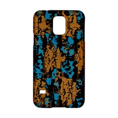 Blue Brown Texture			samsung Galaxy S5 Hardshell Case by LalyLauraFLM