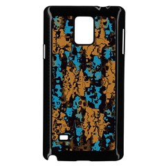 Blue Brown Texture			samsung Galaxy Note 4 Case (black) by LalyLauraFLM