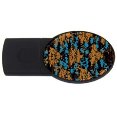 Blue Brown Texture			usb Flash Drive Oval (2 Gb) by LalyLauraFLM