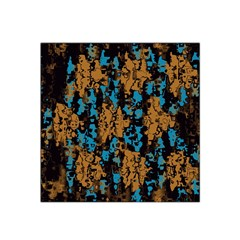 Blue Brown Texture Satin Bandana Scarf