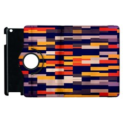 Rectangles In Retro Colors			apple Ipad 2 Flip 360 Case by LalyLauraFLM