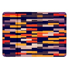 Rectangles In Retro Colors			samsung Galaxy Tab 8 9  P7300 Flip Case by LalyLauraFLM