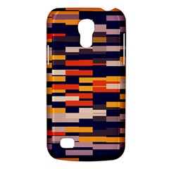 Rectangles In Retro Colors			samsung Galaxy S4 Mini (gt I9190) Hardshell Case by LalyLauraFLM