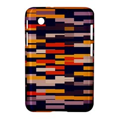 Rectangles In Retro Colors			samsung Galaxy Tab 2 (7 ) P3100 Hardshell Case by LalyLauraFLM