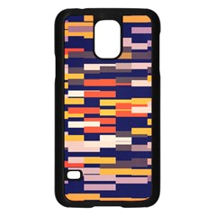 Rectangles In Retro Colors			samsung Galaxy S5 Case (black) by LalyLauraFLM