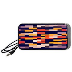 Rectangles In Retro Colors Portable Speaker by LalyLauraFLM