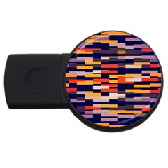 Rectangles In Retro Colors			usb Flash Drive Round (4 Gb) by LalyLauraFLM