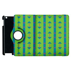 Arrows And Stripes Pattern			apple Ipad 2 Flip 360 Case by LalyLauraFLM