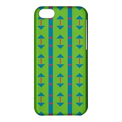 Arrows And Stripes Pattern			apple Iphone 5c Hardshell Case by LalyLauraFLM