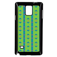 Arrows And Stripes Pattern			samsung Galaxy Note 4 Case (black) by LalyLauraFLM