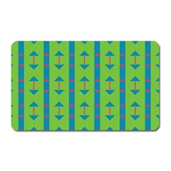 Arrows And Stripes Pattern			magnet (rectangular) by LalyLauraFLM